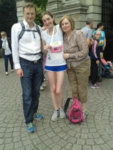 My parents were waiting for me when I finished the Flora Women's Mini Marathon for the second time. I'm looking forward to returning for the 2015 race, it's become a bit of a tradition with my friends and I!