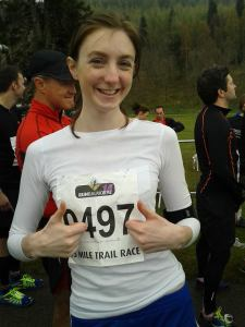 Waiting patiently to run the Balmoral 15 mile trail race, the furthest distance I have run so far